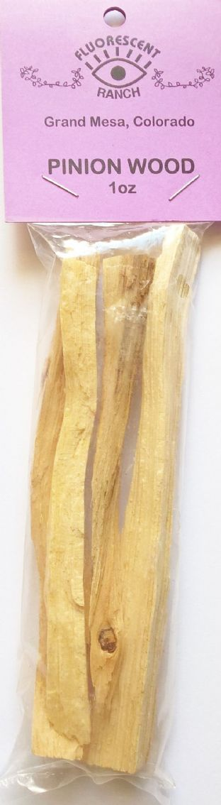 "Pinon Pine Wood: Native American wood chip smudge (1oz) by ""Fluorescent Ranch"""